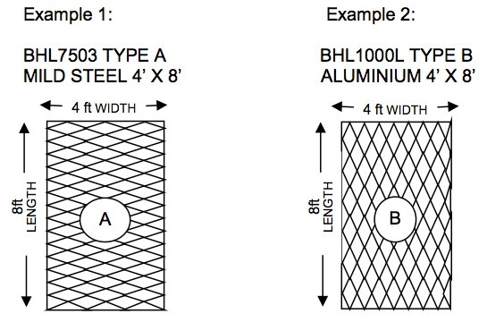 When Ordering Expanded Metals Give Complete Code Numbers And The Orientation Type A Or B To Avoid Possible Error Include Of Metal